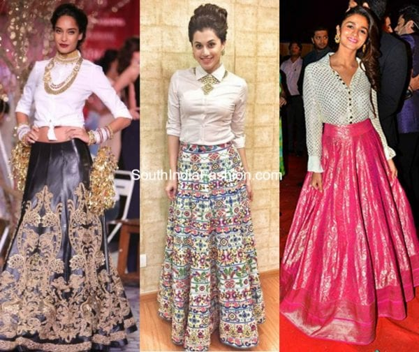 Traditional Long Skirt  Different Styles Of Wearing It