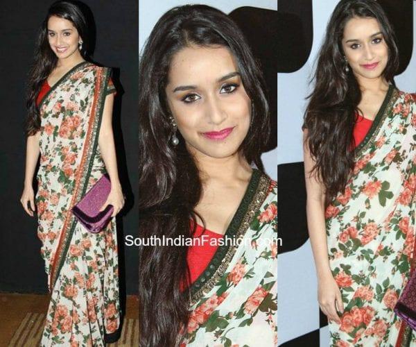 shradhha-kapoor-in-a-floral-saree