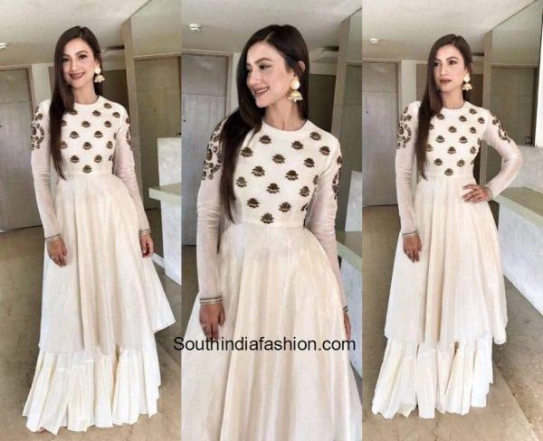 Gauhar Khan in Radhika Airi outfit for a Jewelry Store opening in Aligarg 600x488