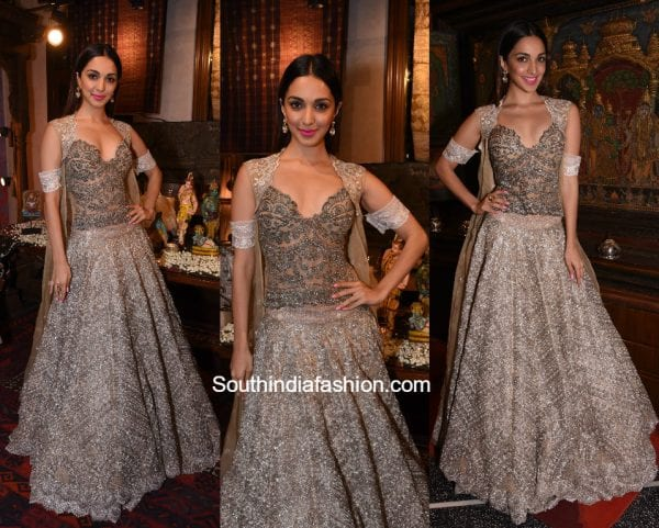 Kiara Advani in a Jade Lehenga at the collection preview launch
