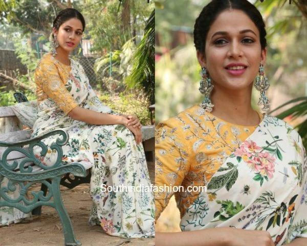 Lavanya Tripathi in a floral printed saree 1