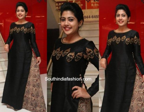 Nayana in a black kalamkari mastani dress