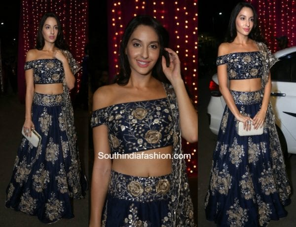 Nora Fatehi in Payal Singhal at Zee Apsara Telugu Awards 2017