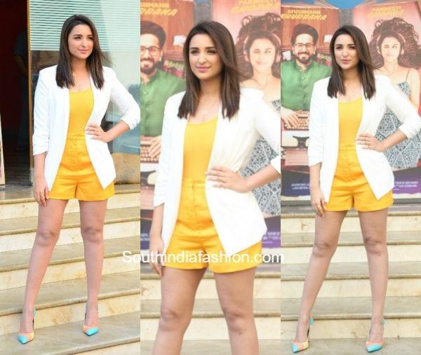 Parineeti Chopra in H&M and Misguided at Meri Pyaari Bindu Teaser Launch 1