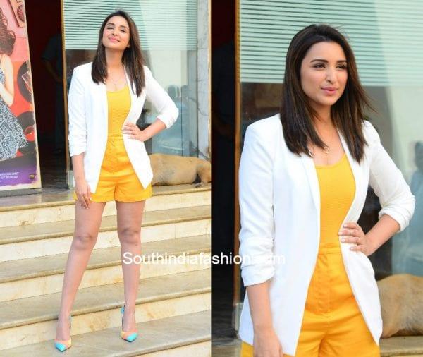 Parineeti Chopra in H&M and Misguided at Meri Pyaari Bindu Teaser Launch