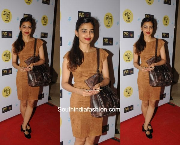 Radhika Apte in a western outfit at Mami Screening