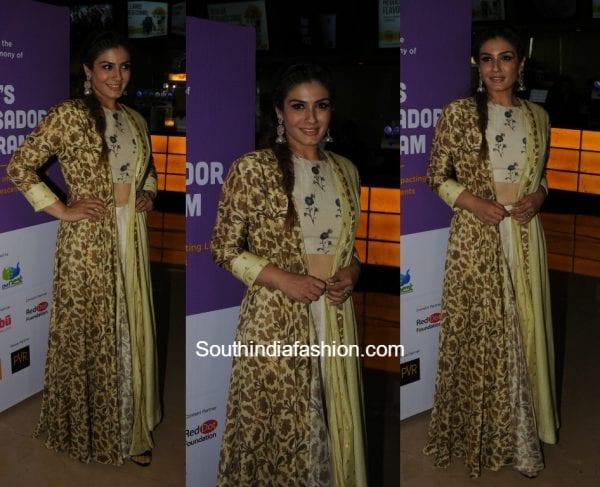 Raveena Tandon in ethnic wear at She's ambassador initiative launch