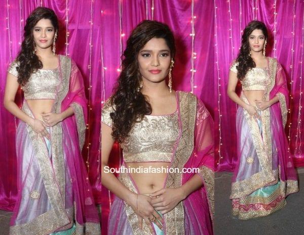 Ritika Singh in a lehenga set at Zee Apsara telugu Awards 2017 1