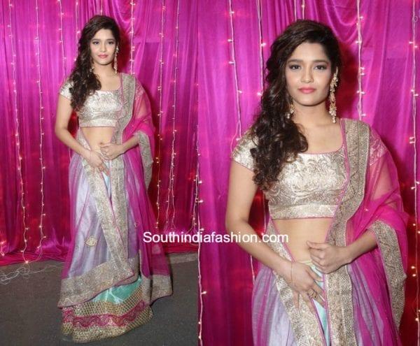 Ritika Singh in a lehenga set at Zee Apsara telugu Awards 2017