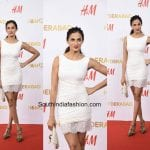 Shilpa Reddy in a White Dress