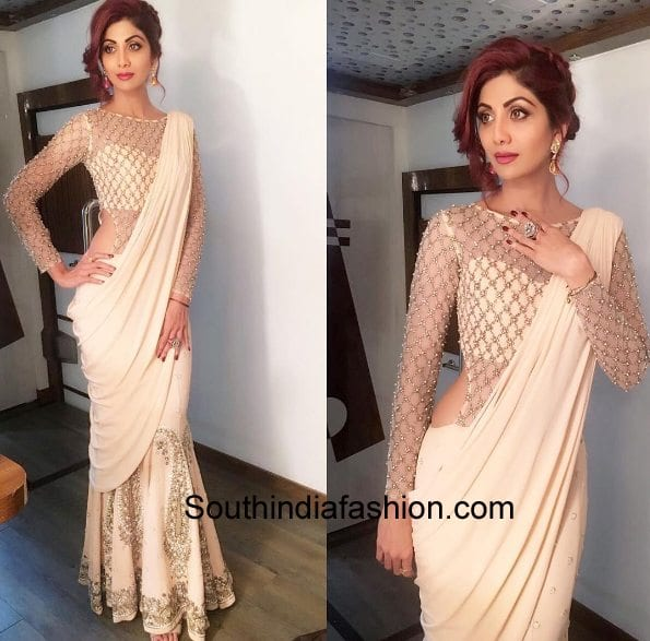 6 Unique Shilpa Shetty Saree Styles South India Fashion She looks eye catchy in saree with matching blouse. 6 unique shilpa shetty saree styles