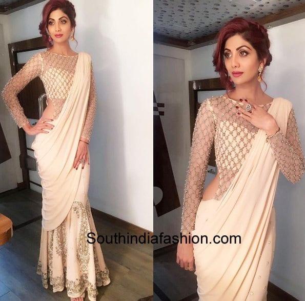 Shilpa shetty mermaid style saree