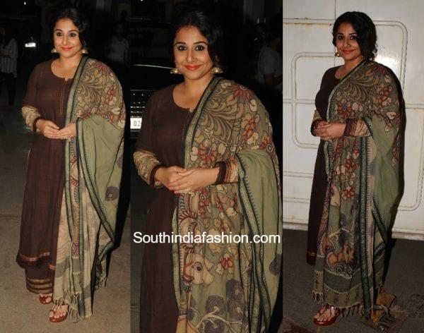 Vidya Balan in Gaurang Shah for Begum Jaan Screening 600x472