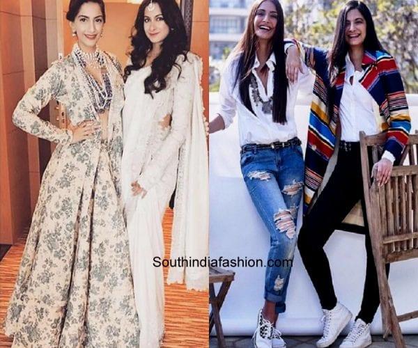 bollywood celebs sisters fashion rhea sonam kapoor 600x500