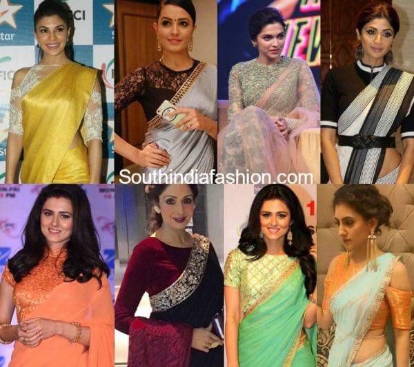 celebrity inspired saree blouse designs 600x533