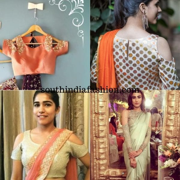 Cold Shoulder Blouses For Sarees