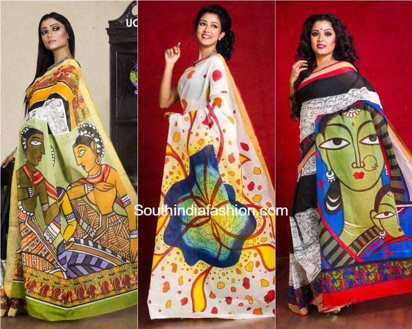 Cotton Hand Painted Sarees By Petuniadesigns South India