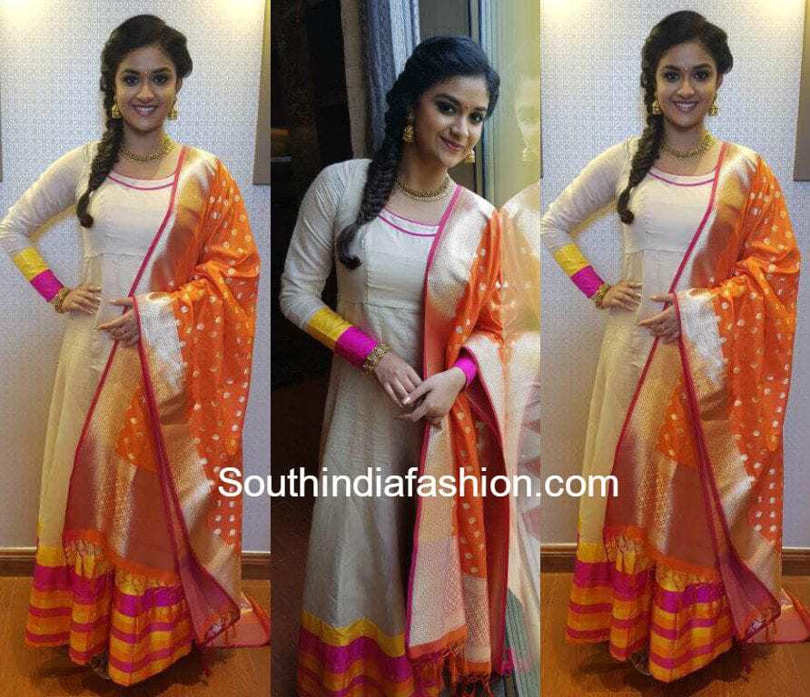 1ed731de479e28 Keerthy Suresh in Manjal Studio. By. southindiafashion