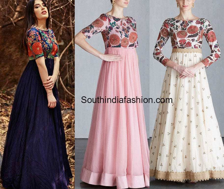 Long Gowns ~ Fashion Trends ~ – South India Fashion
