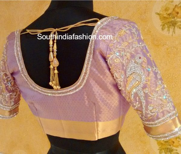pattu saree blouse designs 600x511