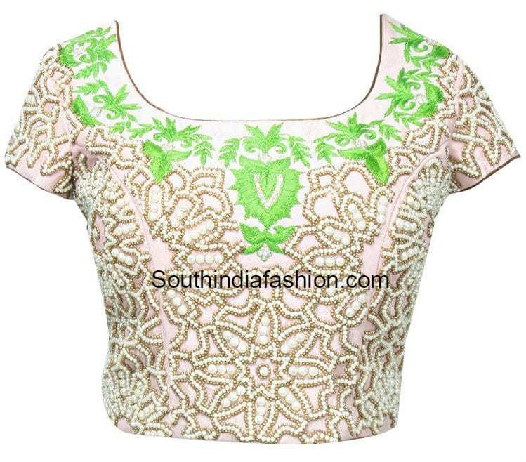 Pearl Work Blouse Designs U2013 South India Fashion