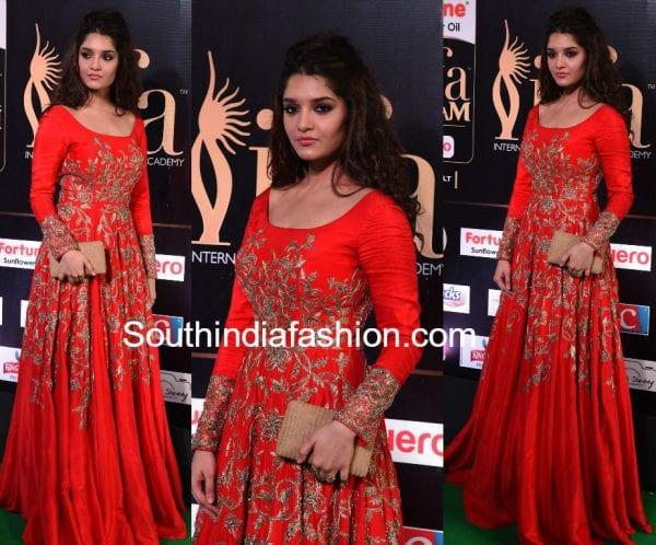 rithika-singh-red-gown-iifa-utsavam-awards-2017