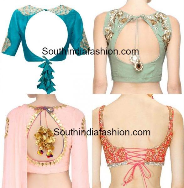 saree blouse tassel models 587x600