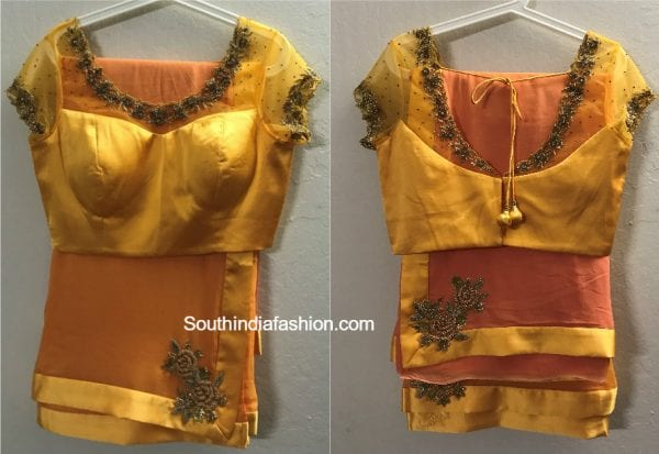 sarees reeadymade blouse 600x413