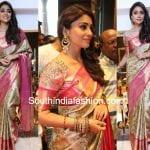Shriya Saran in a kanjeevaram saree at VRK Silks Store Launch