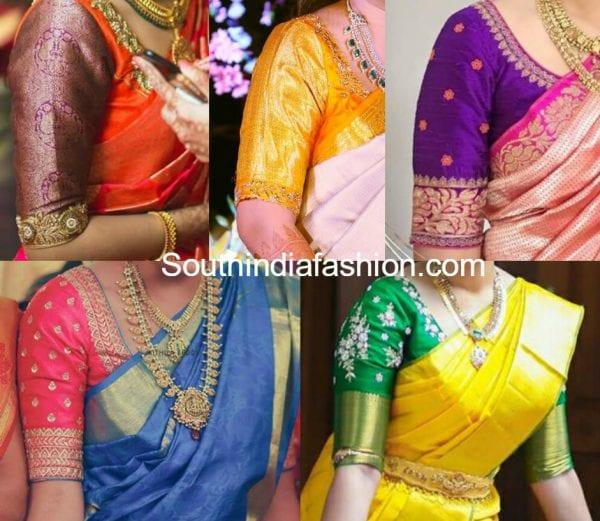 simple-blouse-designs-for-wedding-pattu-kanjeevaram-sarees