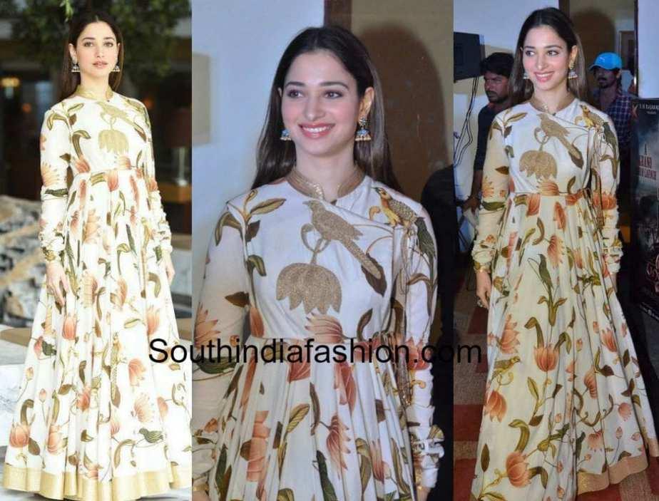 Tamannaah Bhatia in Rohit Bal – South India Fashion