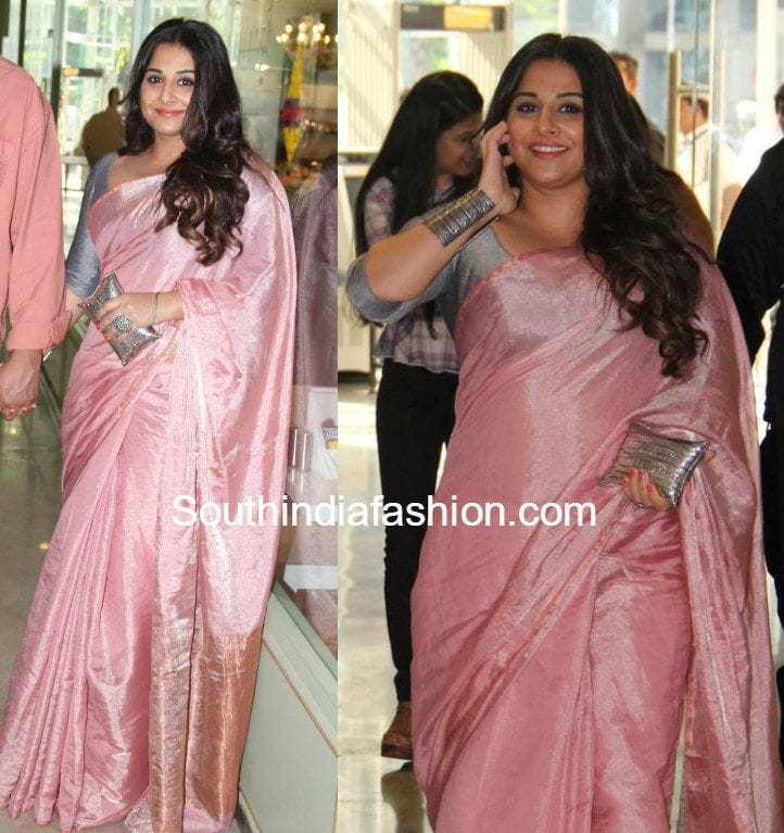 Trends 2017 fashion india - Vidya Balan Fashion Trends South India Fashion