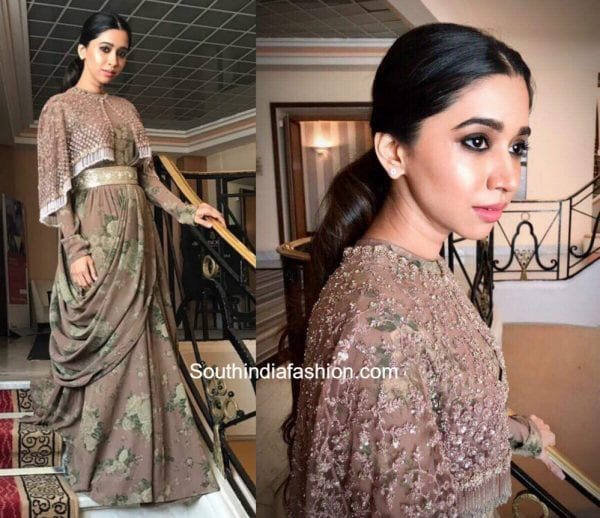 Aarti Ravi in Sabyasachi at Cannes Film Festival 600x518