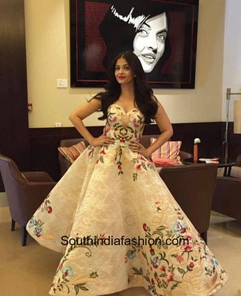 Aishwarya Rai in Mark Bumgarner gown at Cannes Film Festival 2017 1
