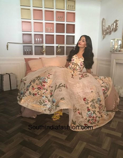 Aishwarya Rai in Mark Bumgarner gown at Cannes Film Festival 2017 2