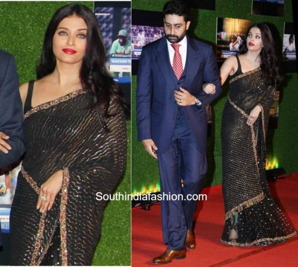 Aishwarya Rai in Sabyasachi at Sachins movie premiere 600x538