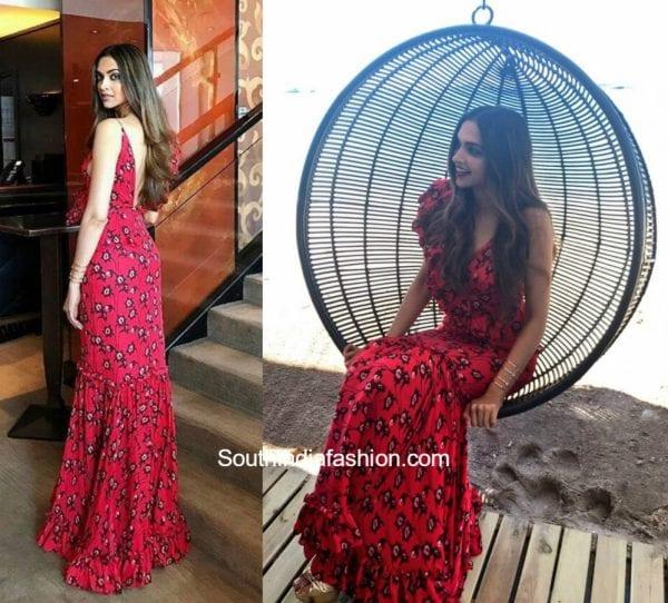 Deepika Padukone in Johanna Ortiz gown at Cannes 2017