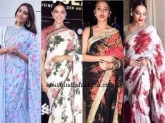 Floral sarees