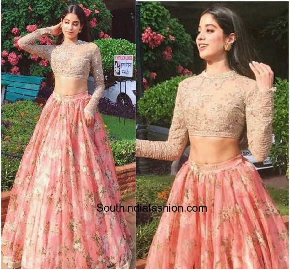 Jhanvi Kapoor In Sabyasachi South India Fashion
