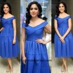 Ritu Varma in a Blue Dress