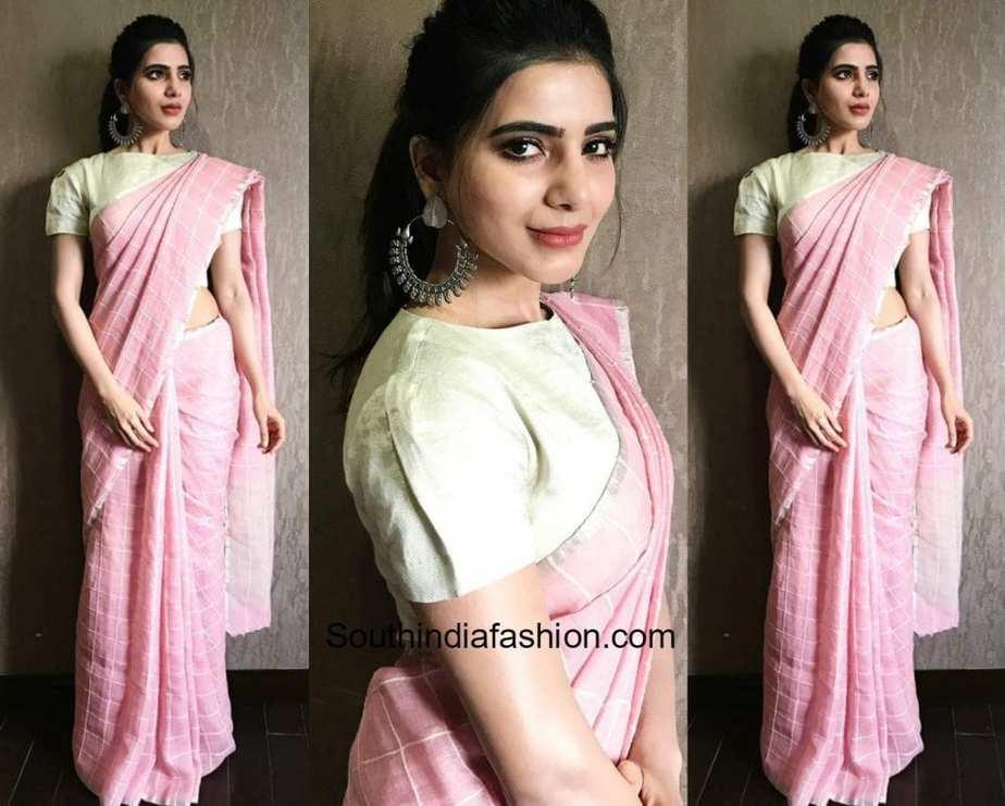 Trends 2017 fashion india - Samantha Ruth Prabhu In Anavila South India Fashion