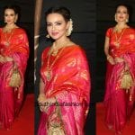 Sana Khan in a Kanjeevaram Saree