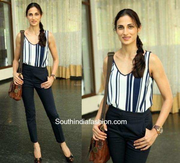 Shilpa Reddy in western wear at Interiyour Hamstech event