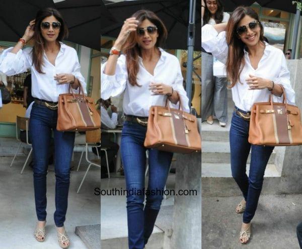 Shilpa Shetty in western wear 600x495
