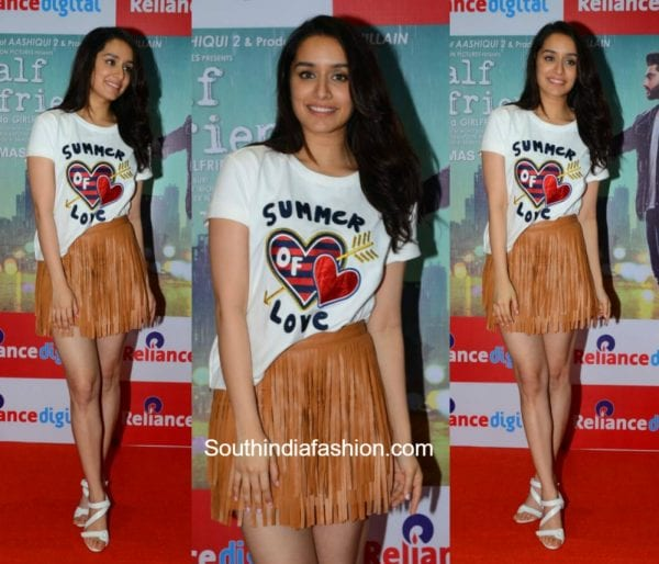 Shraddha Kapoor in TommyxGigi and Deme by Gabriella for Hlaf Girlfriend Promotions 600x514