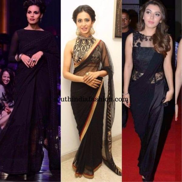 black designer sarees 600x600