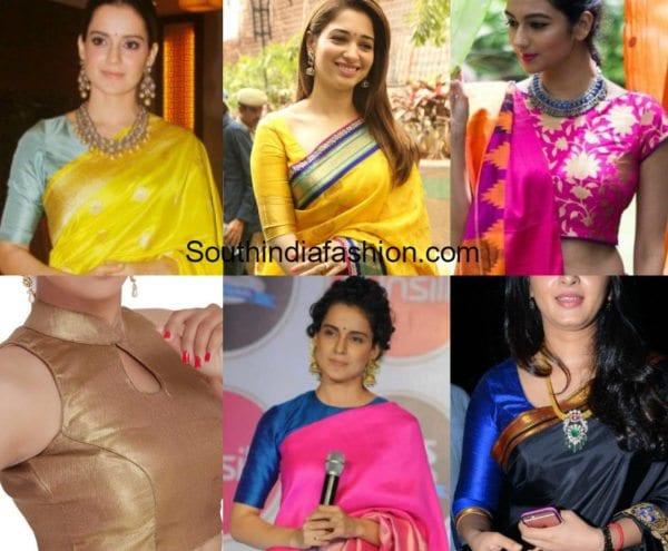 blouse designs for banarasi silk sarees