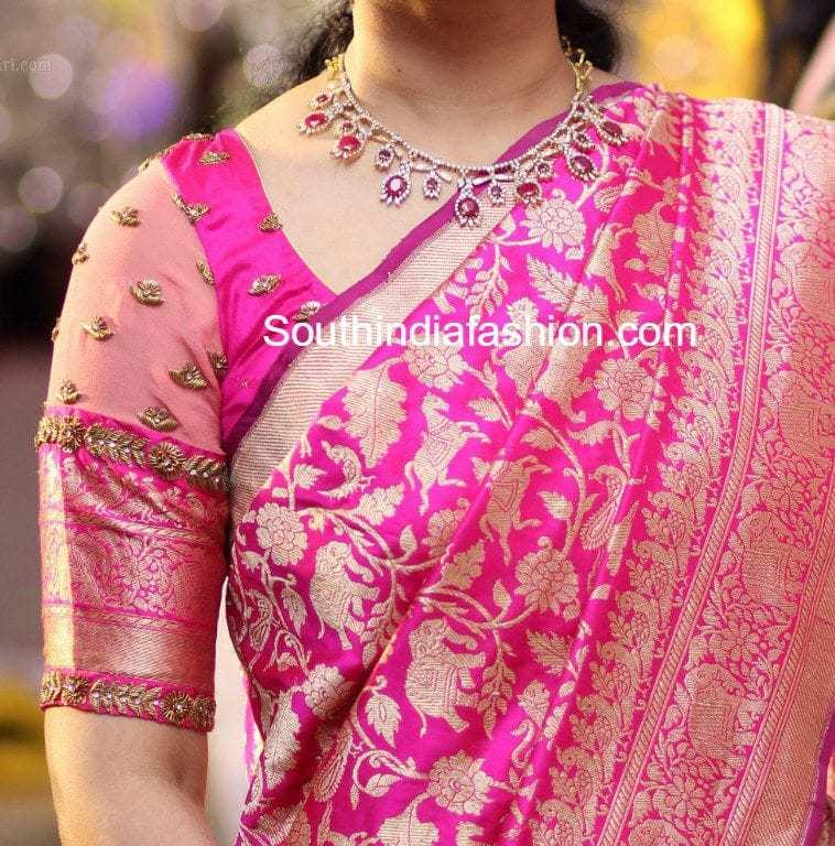 8 Stunning Blouse Patterns For Banarasi Silk Sarees South