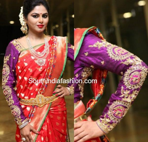embroidered-full-sleeves-blouse-with-banarasi-silk-saree