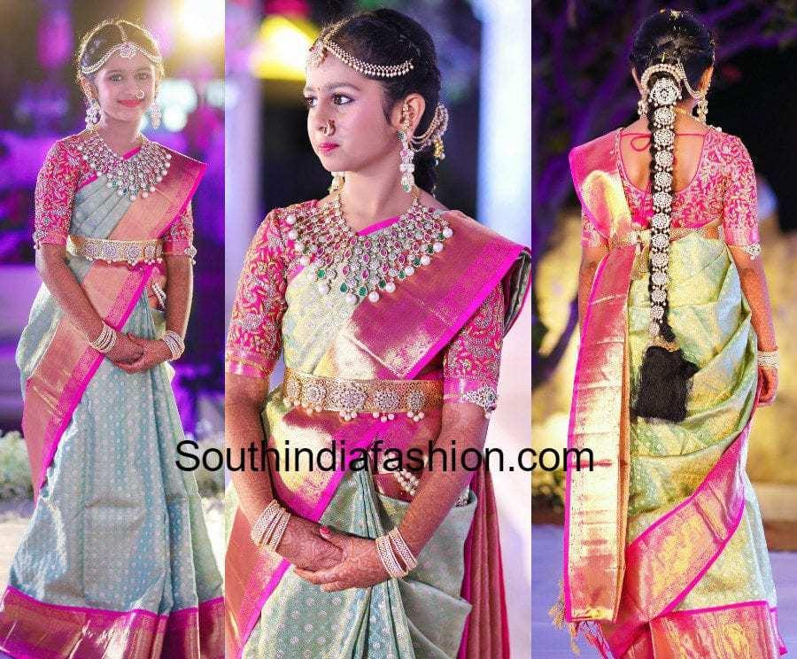 hiya-jewellery-designer-daughter-half-saree-function